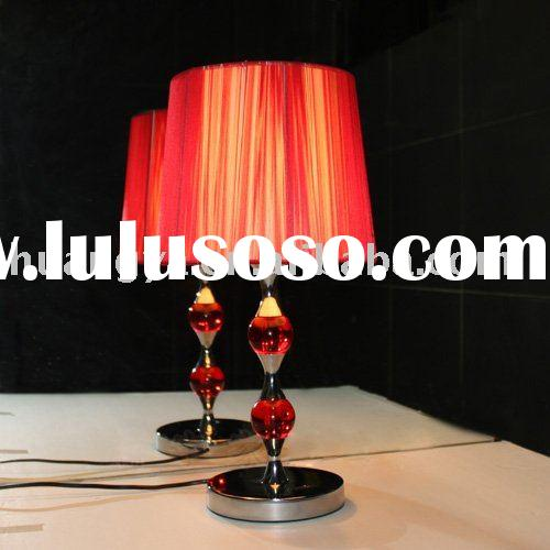 hot red Glass table lamp