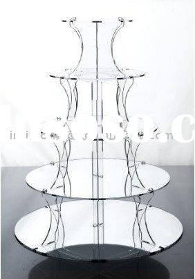 hot sale 5 tiers acrylic cupcake stand