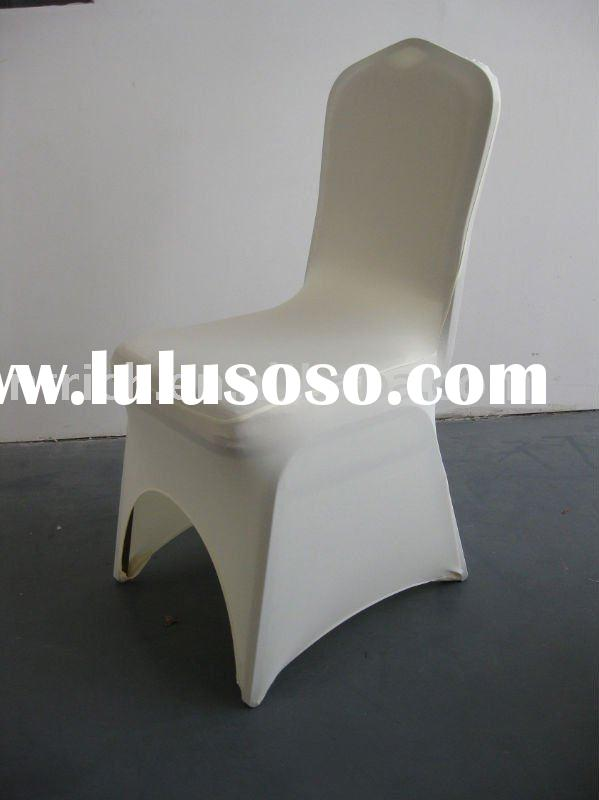 ivory colour,lycra chair cover for banquet,wedding,hotel,cheap price but high quality