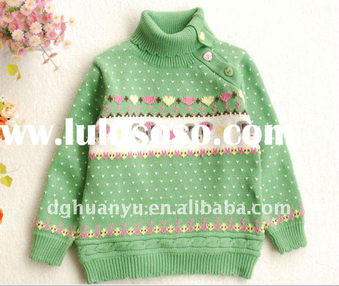 knitting patterns children sweater design for 0-12years