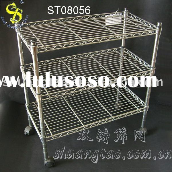 metal storage rack stainless steel storage basket storage shelf
