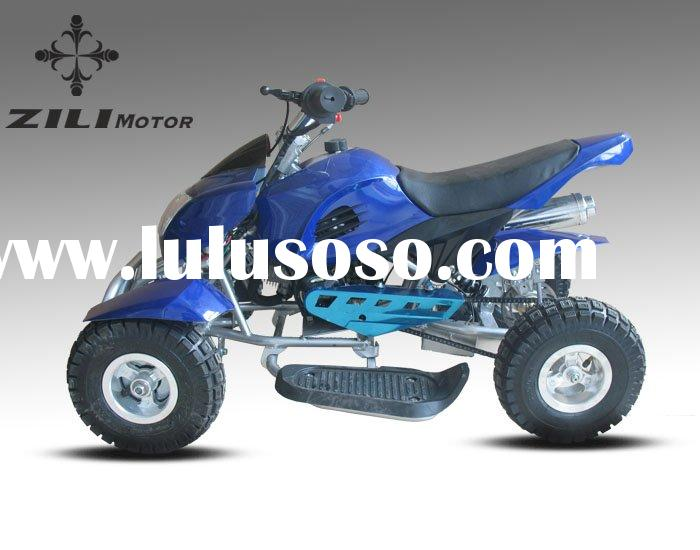 mini kids ATV aluminum pull start blue pocket quad bike atv