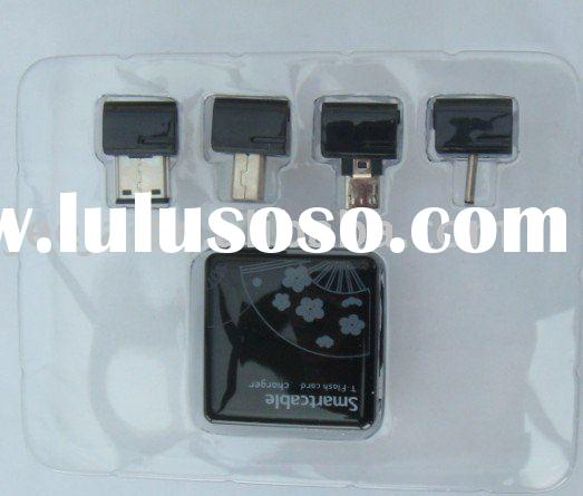 mobile phone accessories:travel charger with emergency battery inside