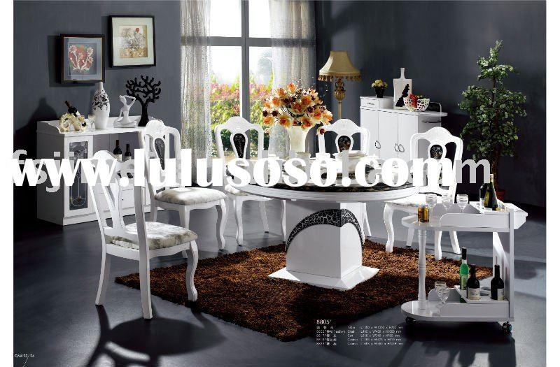 modern dining Room Set with marble top table 8805#