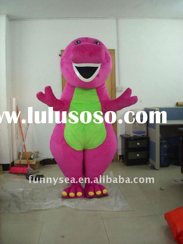 new barney mascot costume for party