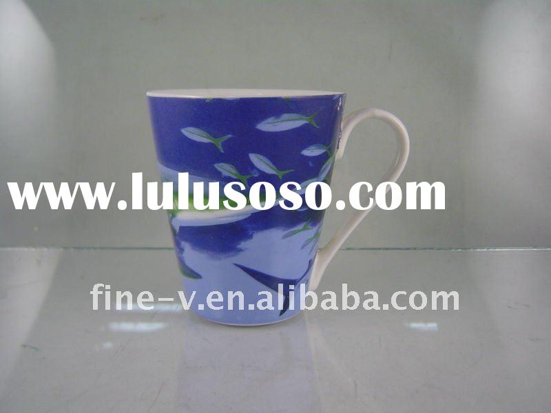 new bone china mug with ocean design