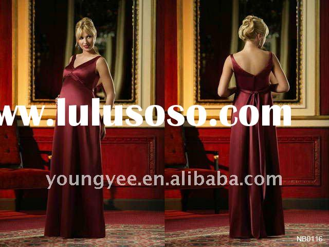 new design red satin halter evening dresses for pregnant women prom dress pregnant women dresses ,20