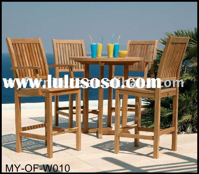 outdoor wooden table and chair set (outdoor furniture/garden furniture)