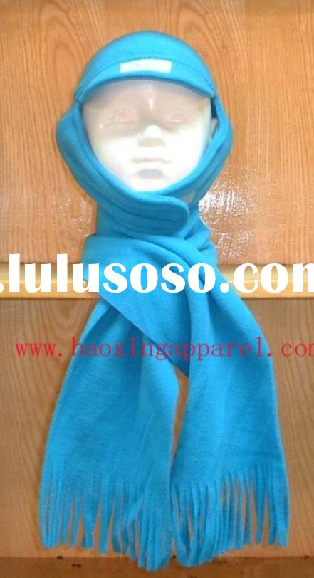 polar fleece winter hat and scarf for kids