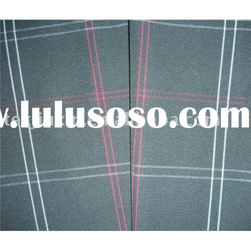 polyester and cotton plaid fabric ( yarn dyed)