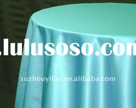 polyester damask satin fabric for tablecloth