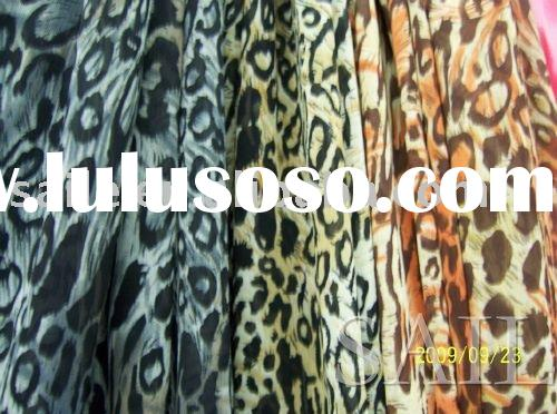polyester leopard print fabric