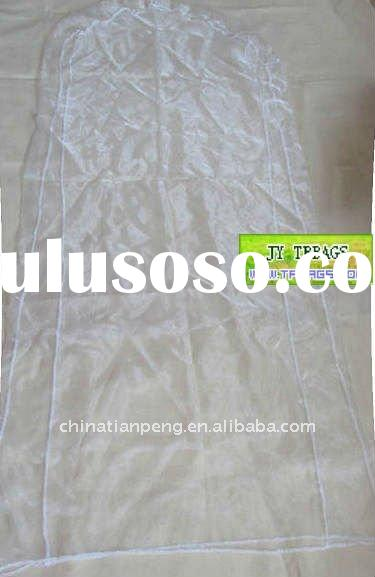 polyester wedding dress covers/evening gown dress bags/bridal dress covers