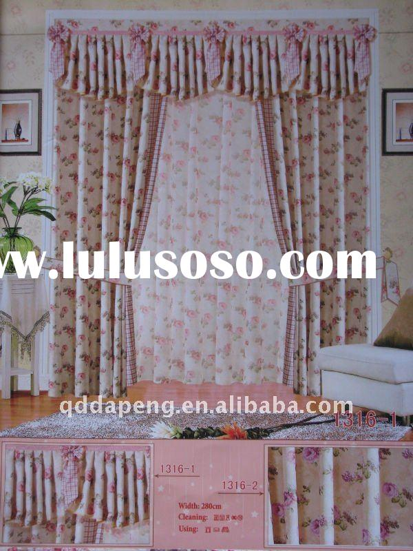ready-made printed colors window panel curtain