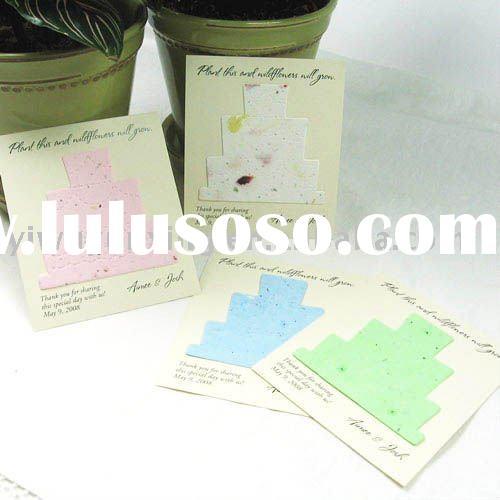 seed paper greeting card