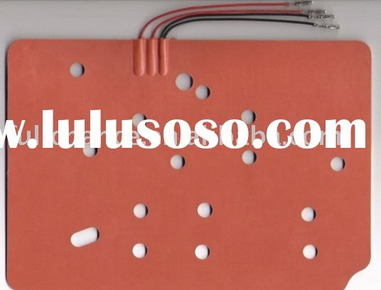 silicone heating pad/mat/sheet silicone heater/silicone rubber heater/silicone flexible heater mat/p