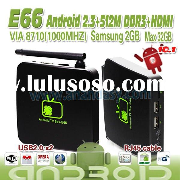 smart tv box E66 Android 2.3 With factory price