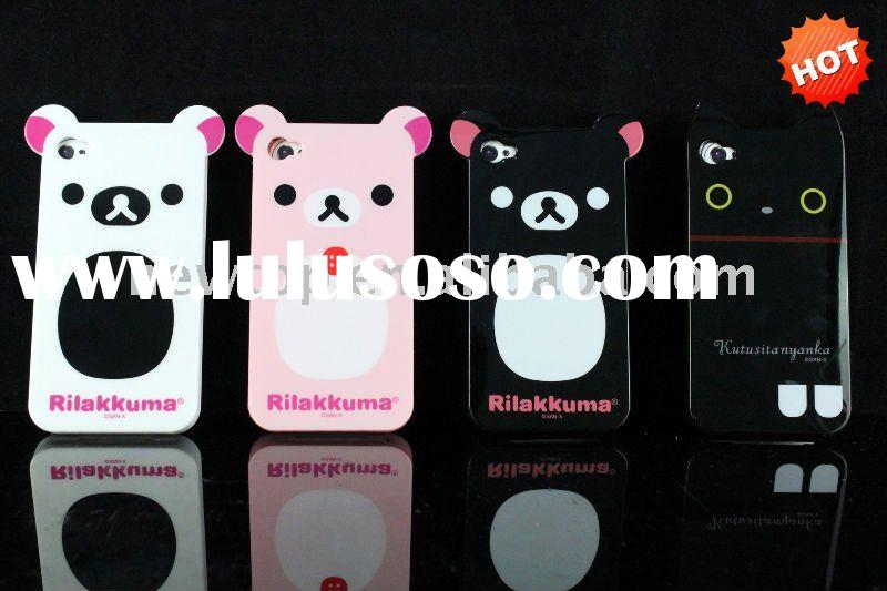 soft silicone rubber case for iphone 4 case