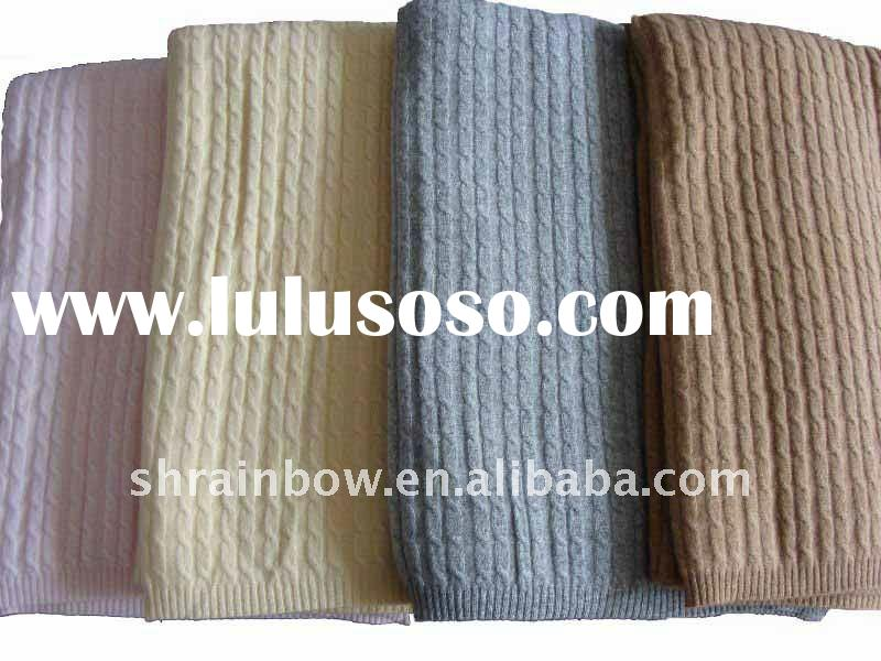 solid color knitted cashmere blanket