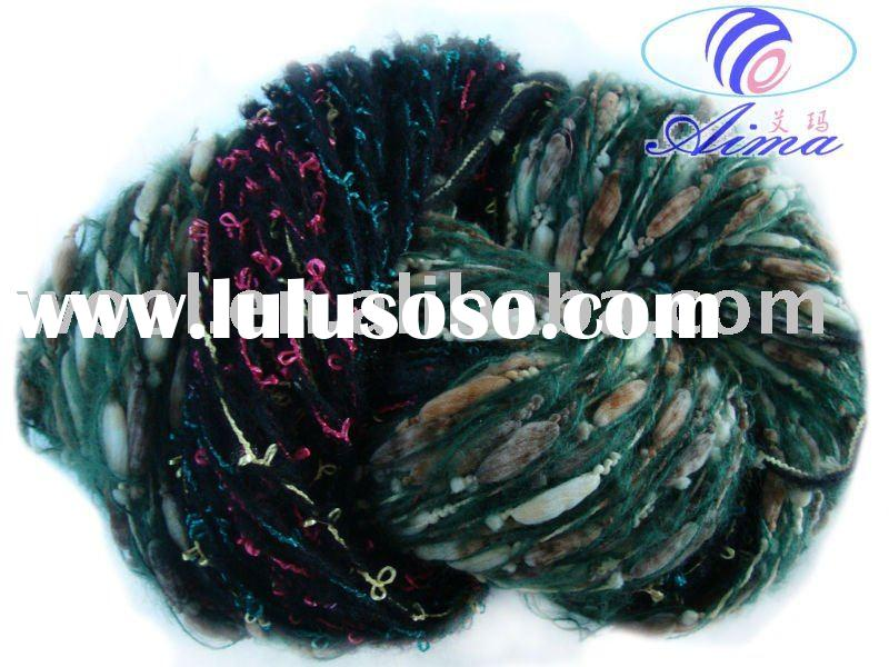 spun fancy yarn/wholesale knitting wool yarn/bamboo