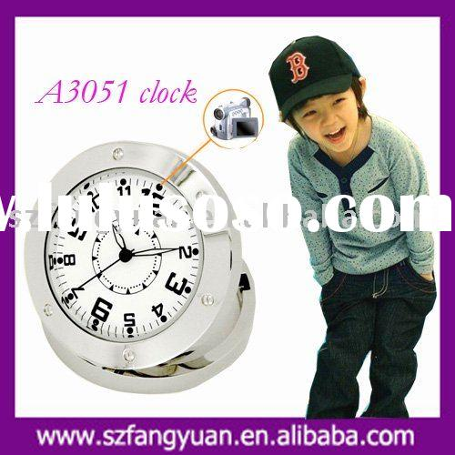 stainless steel back travel clock A3051
