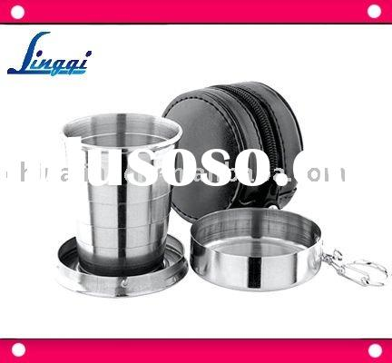 stainless steel collapsible/expandable drinking cup holds 150ml