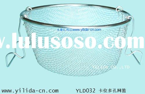 stainless steel wire mesh adjustable expandable colander basket strainer (YLD032)