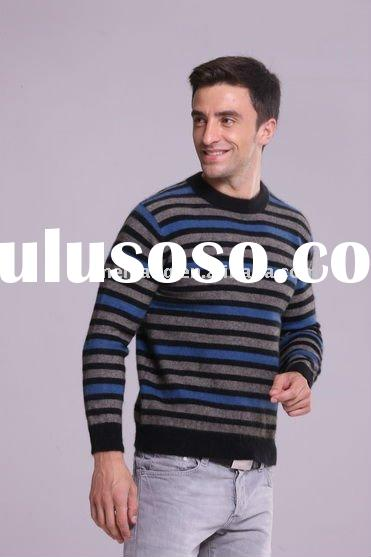 striped cashmere Sweater for man