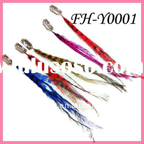 Thin Extension Lead : Alloy beads long feather hair extension for sale price
