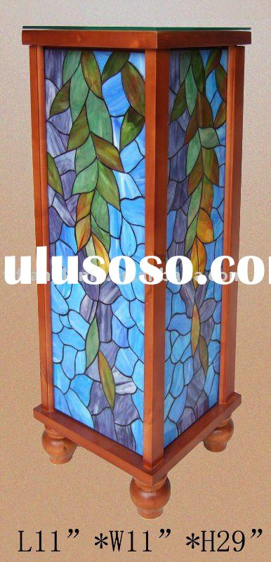 tiffany lamp ,phone table,home decor, residential lighting ,stained glass furniture