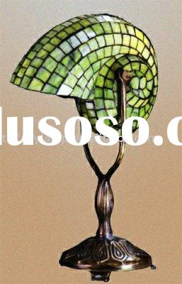 tiffany lamp,stained glass Snail shell table lamp