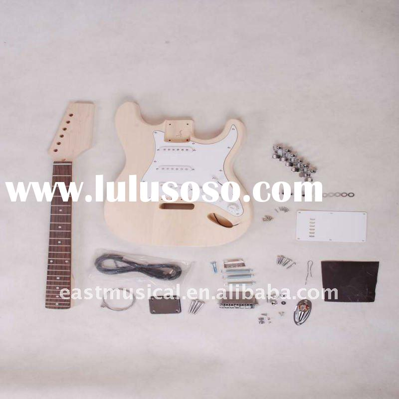 unfinished ST electric guitar Kits