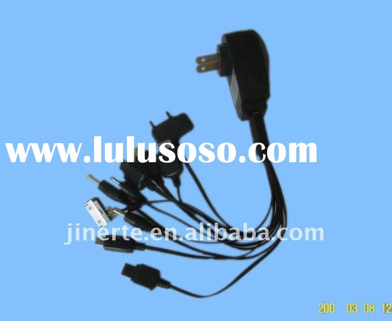 universal usb multi charger for mobile phones with multi cable connectors