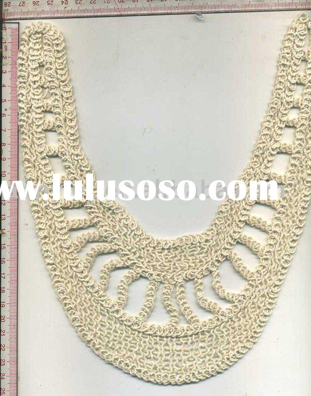 very fashion garment collar lace crochet motif