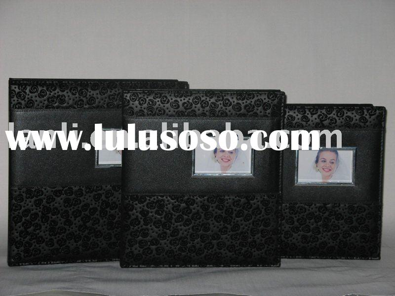 wedding photo album cover with PU leather photo paper