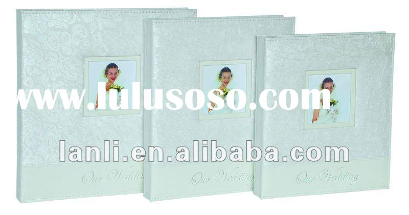 wedding photo album with printed art paper cover