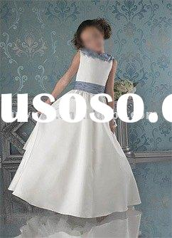 white blue sash flower girl dresses for weddings
