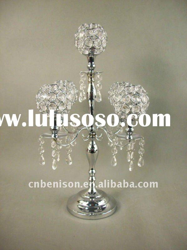 white floor standing wedding crystal stand candelabra flower