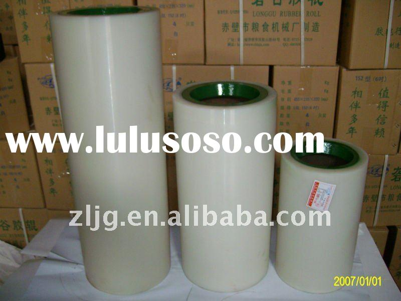 white poly rubber roller for rice mills
