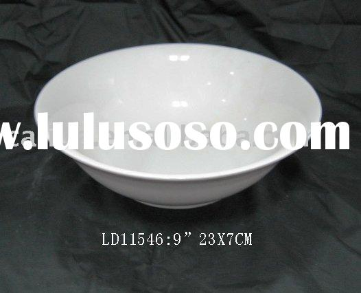 white porcelain soup bowl 9""
