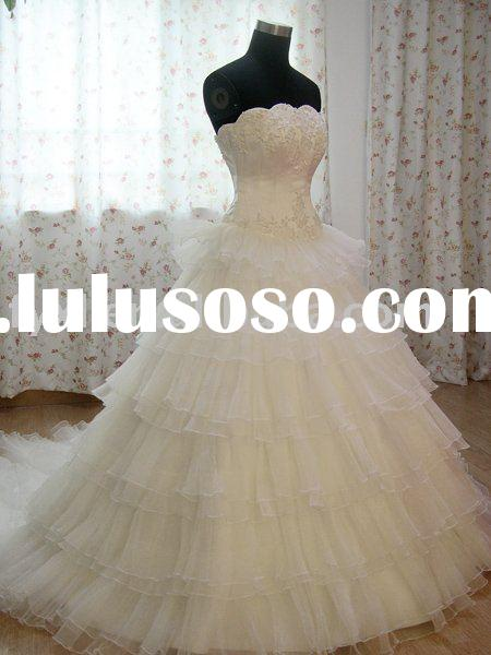 wholesale supplier professional manufacture top organza Christmas wedding dress RM-5
