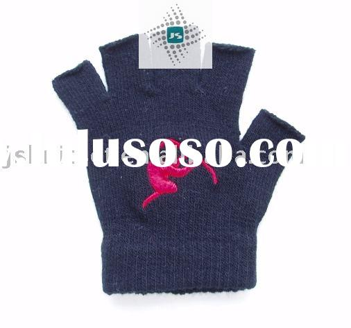 winter acrylic knitted fingerless gloves