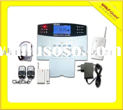 wireless home alarm security system with LCD and keypad