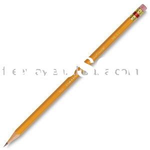 wooden pencil with eraser