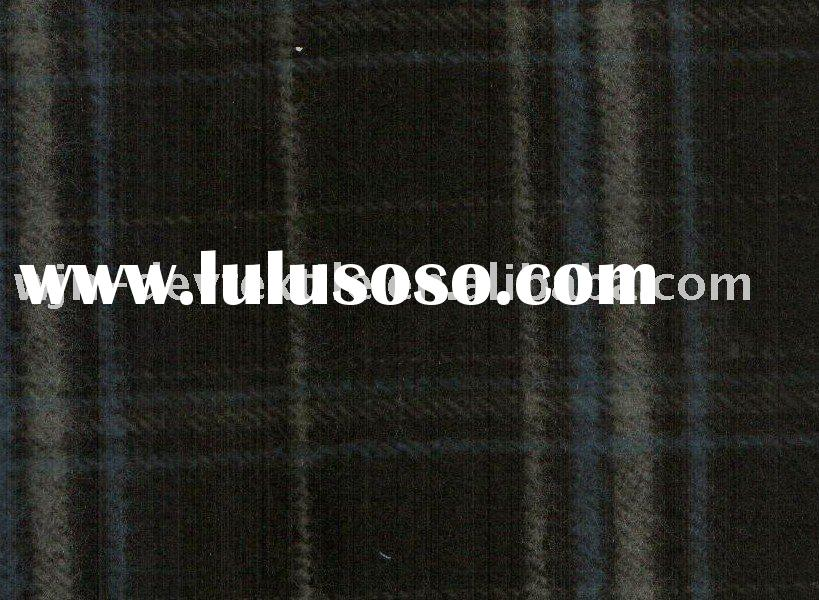 wool polyester blended yarn dyed fabric