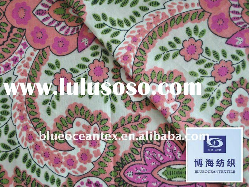 100% Cotton Shirt Fabric 60X60/90X88 9088 Hand Block Print Fabric Cotton Sheeting Fabric Factory In