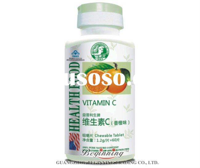 100% Natural health care products Vitamin C Chewable Tablet