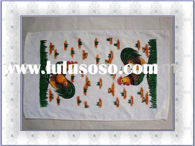 100% cotton pigment or color dyed printed kitchen towel