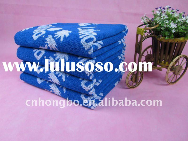 100%cotton yarn dyed jacquard bath towel
