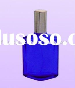 100ml blue glass perfume bottle screw top glass bottles cosmetic containers wholesale perfume bottle